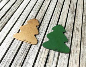 Øreringe med juletræ